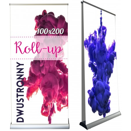 ROLL-UP dwustronny 100x200cm BLOCKOUT ROLLUP
