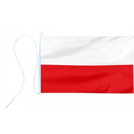 Flaga jachtowa Polski - barwy 45x30cm - pod sailing