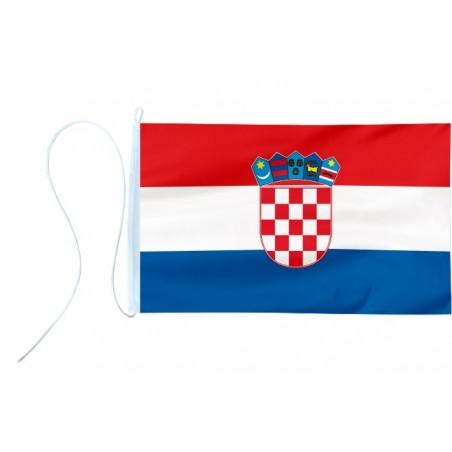 Flaga jachtowa Chorwacji z godłem 45x30cm - bandera pod sailing