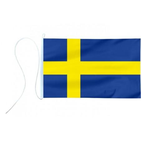 Flaga jachtowa Szwecji 65x40cm - pod sailing