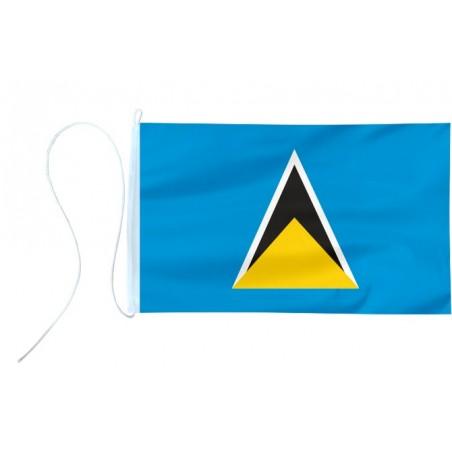 Flaga jachtowa Saint Lucii 30x20cm - pod sailing