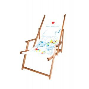 5 x Leżak plażowy z dowolnym nadrukiem typu komfort z...