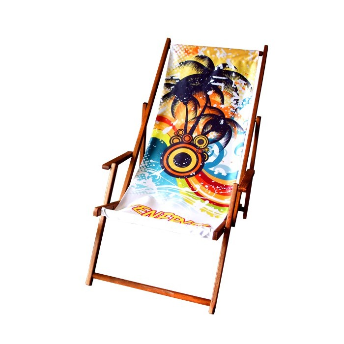 15 x Leżak plażowy z dowolnym nadrukiem typu komfort z podłokietnikami