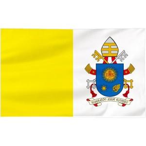 Flaga Papieska 100x60cm z herbem papieża Franciszka