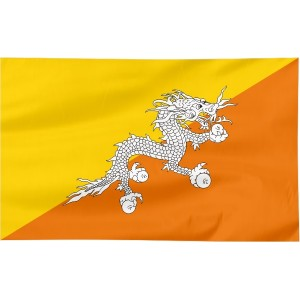Flaga Bhutanu 150x90cm