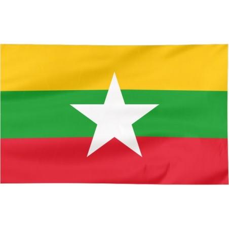 Flaga Birmy 300x150