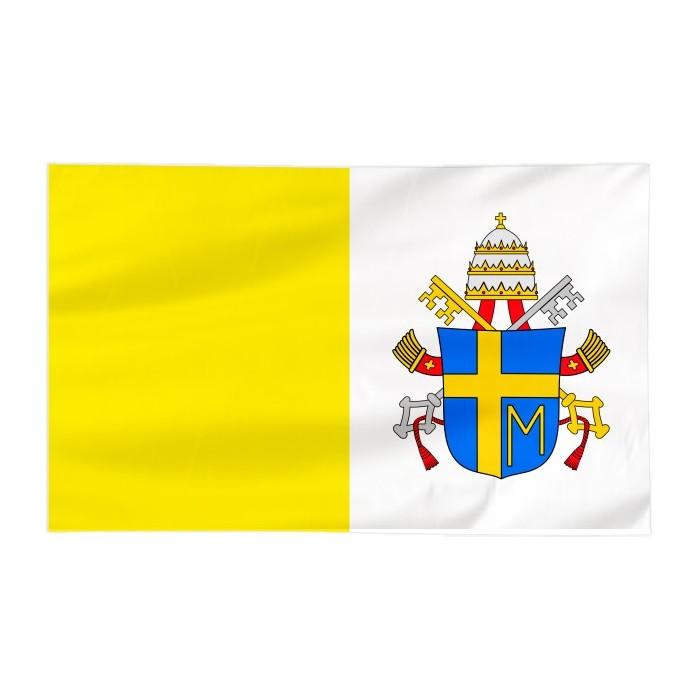 Flaga Papieska 120x75cm z herbem papieża Jana Pawła II