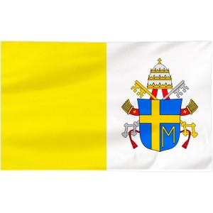 Flaga Papieska 150x90cm z herbem papieża Jana Pawła II