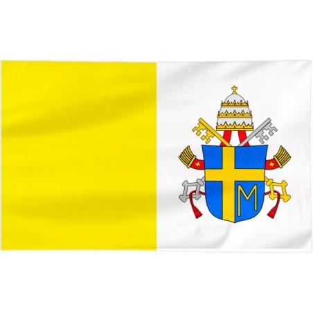 Flaga Papieska 300x150cm z herbem papieża Jana Pawła II