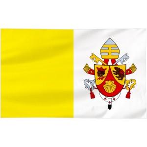 Flaga Papieska 300x150cm z herbem papieża Benedykta XVI