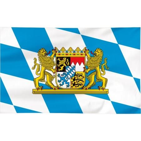 Flaga Bawarii z herbem 300x150cm