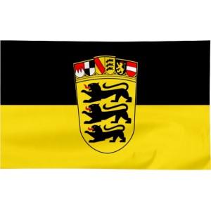Flaga Badenii-Wirtembergii z herbem 120x75cm