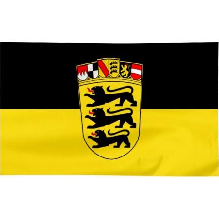 Flaga Badenii-Wirtembergii z herbem 150x90cm