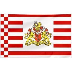 Flaga Bremy z herbem 100x60cm