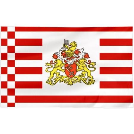 Flaga Bremy z herbem 120x75cm