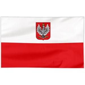 Flaga Polski z godłem z lat 1919-1927 100x60cm
