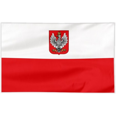 Flaga Polski z godłem z lat 1919-1927 120x75cm