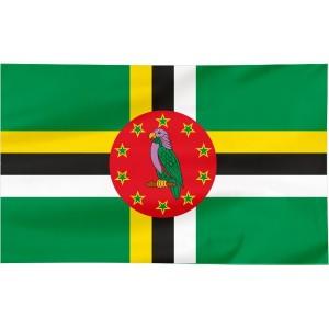 Flaga Dominiki 120x75cm