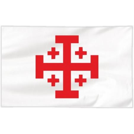 Flaga Krzyża Jerozolimskiego 150x90cm