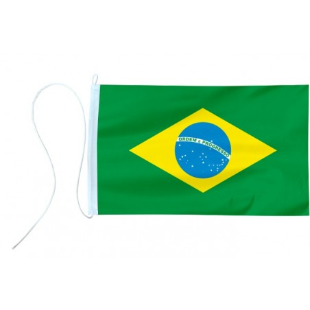 Flaga jachtowa Brazylii 45x30cm - pod sailing