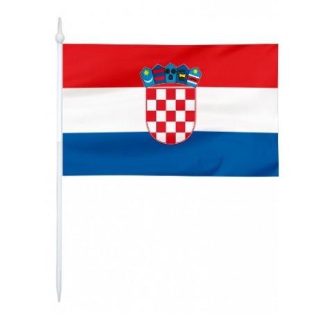 Chorągiewka Chorwacji 11x6cm