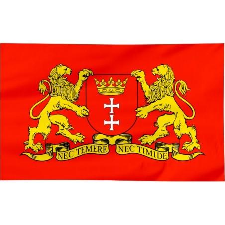 Flaga Gdańska z herbem 100x60cm