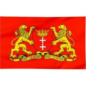 Flaga Gdańska z herbem 150x90cm
