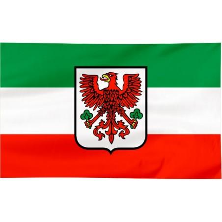 Flaga Gorzowa Wielkopolskiego z herbem 120x75cm