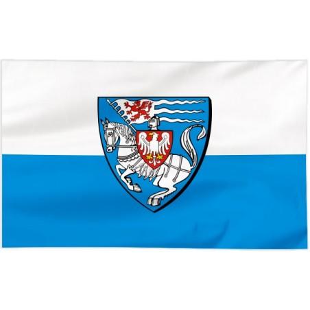 Flaga Koszalina z herbem 150x90cm