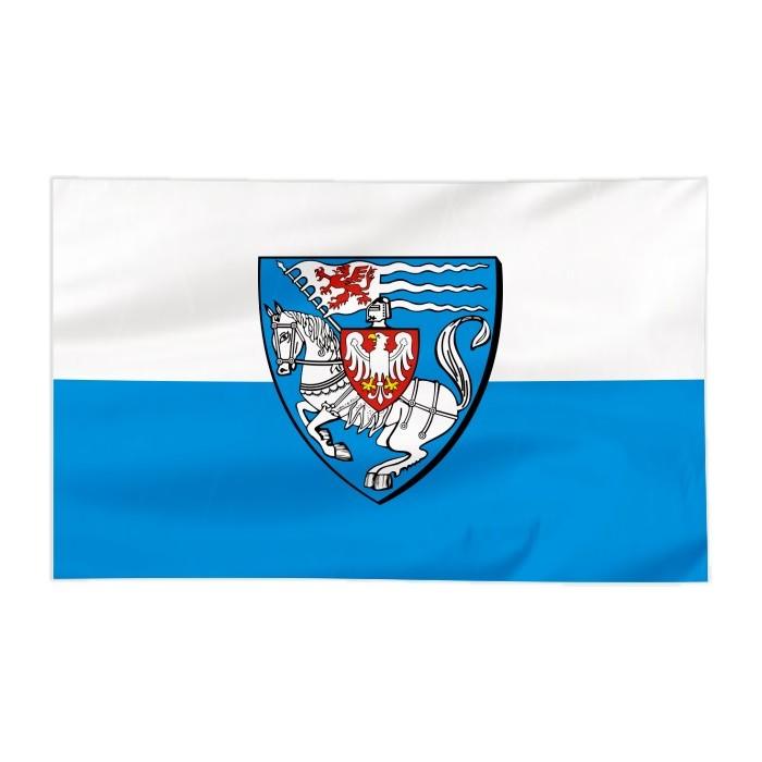 Flaga Koszalina z herbem 300x150cm