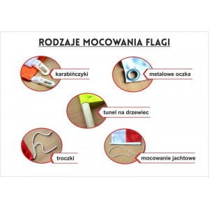Flaga Krakowa 120x75cm -barwy