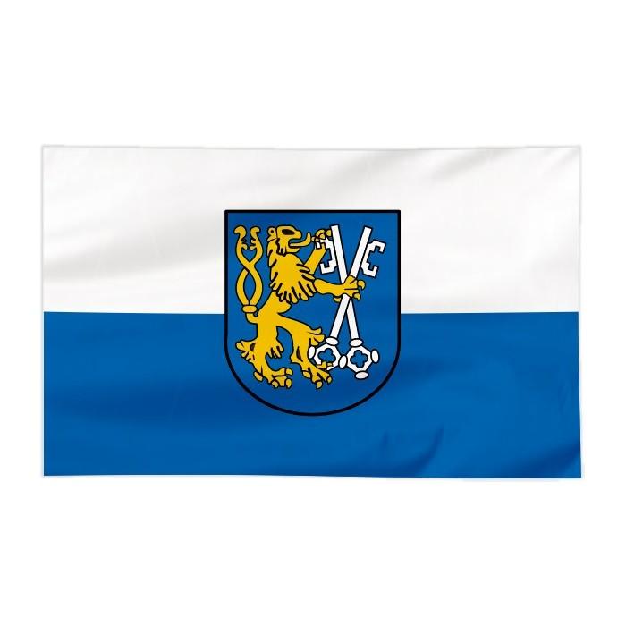 Flaga Legnicy z herbem 150x90cm