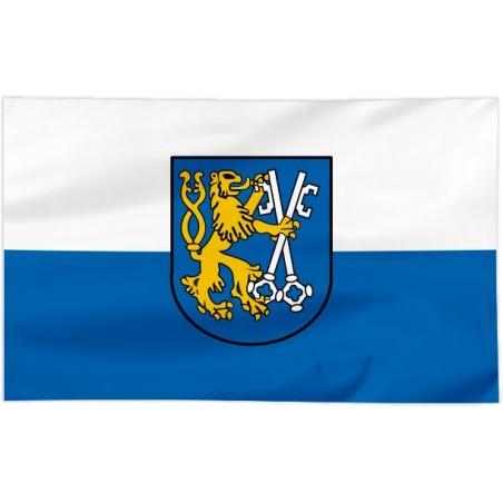 Flaga Legnicy z herbem 300x150cm