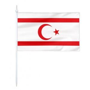 Chorągiewka  Cypru Północnego 24x15cm