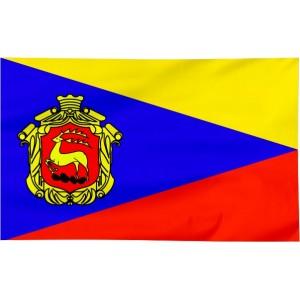 Flaga Łomży z herbem 100x60cm