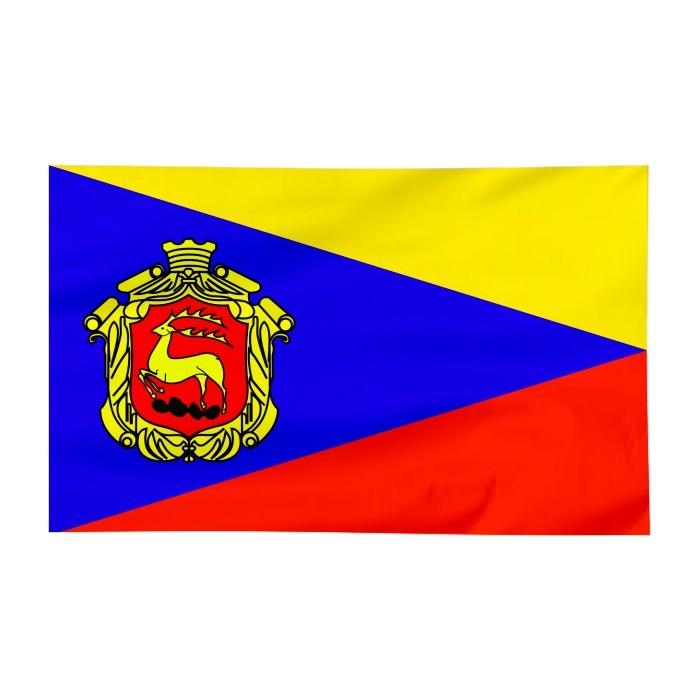 Flaga Łomży z herbem 300x150cm