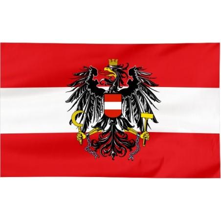 Flaga Austrii z godłem 120x75cm
