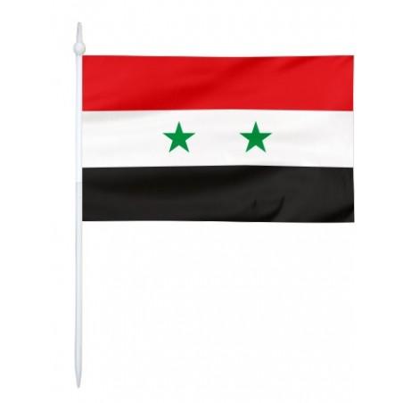 Chorągiewka Syrii 17x10cm