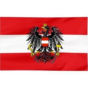 Flaga Austrii z godłem 300x150cm