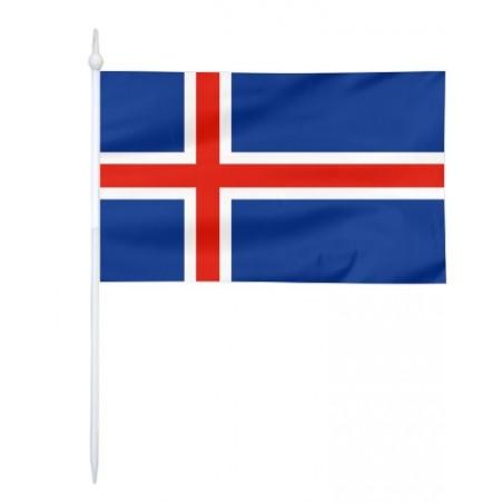 Chorągiewka Islandii 17x10cm