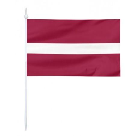Chorągiewka Łotwy 17x10cm