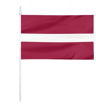 Chorągiewka Łotwy 30x19cm