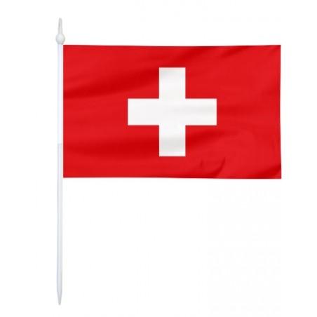Chorągiewka Szwajcarii 17x10cm
