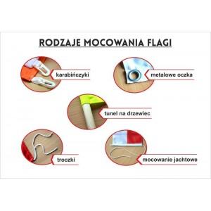 Flaga Warszawy z herbem 100x60cm