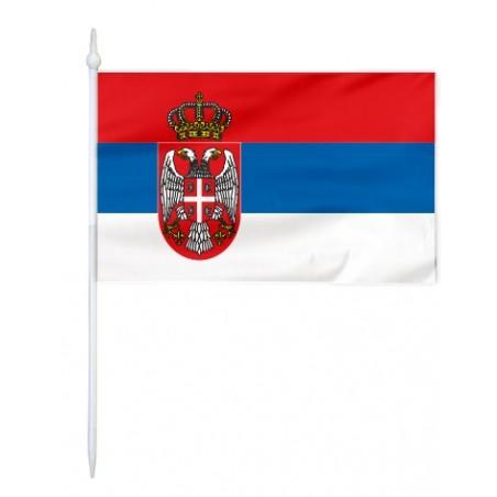 Chorągiewka Serbii 11x6cm