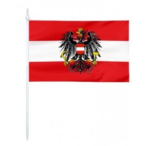 Chorągiewka Austrii z godłem 24x15cm