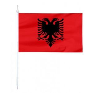 Chorągiewka Albanii 17x10cm