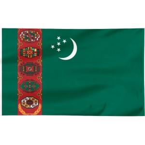 Flaga Turkmenistanu 150x90cm