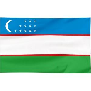 Flaga Uzbekistanu 300x150cm