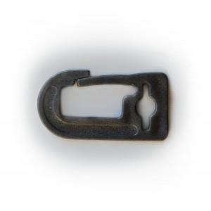 Karabińczyk na taśmę 20mm czarny